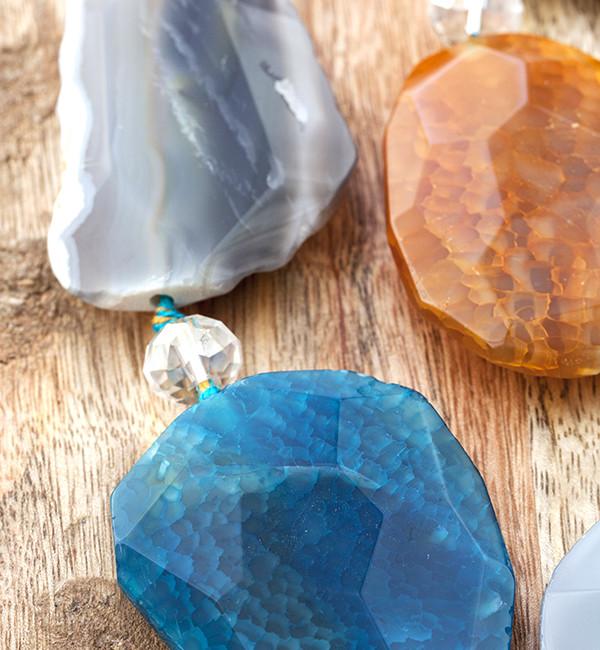 Collar de ágatas y cristal de Murano