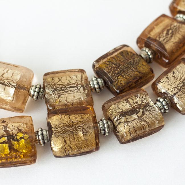 collar de cristal de Murano