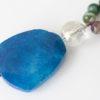 Collar de ágatas, cristal de Murano y cuarzo