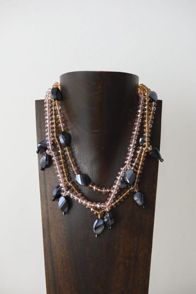 Collar de cristal de Murano y plata